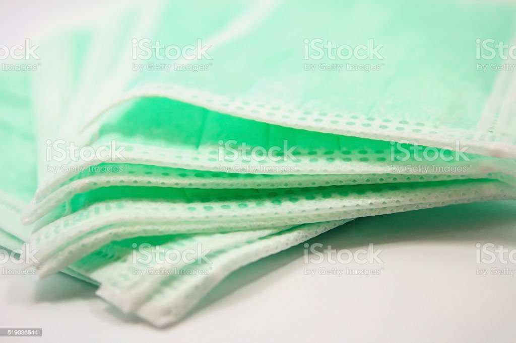Disposable face mask stock photo