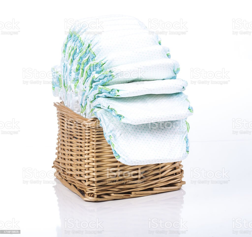 Disposable nappies stock photo
