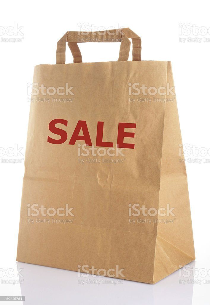 disposable paper bag royalty-free stock photo