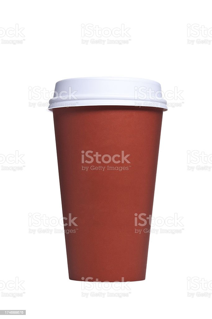 Disposable Paper Coffee Cup With Lid royalty-free stock photo