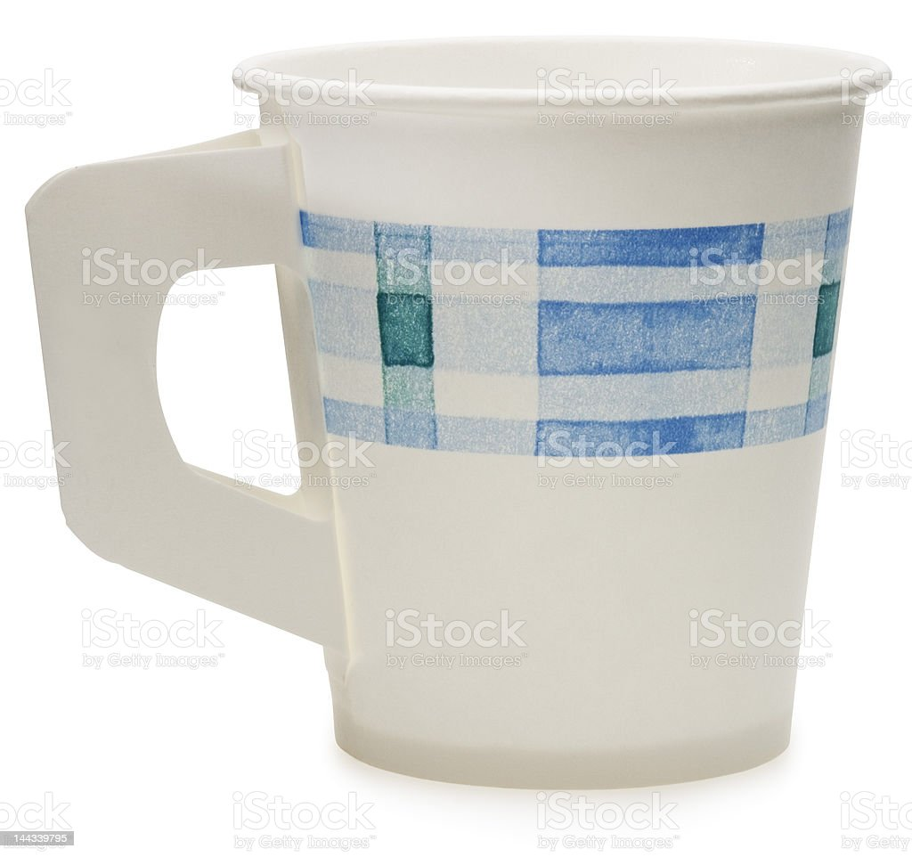 Disposable Paper Cup (clipping path) royalty-free stock photo