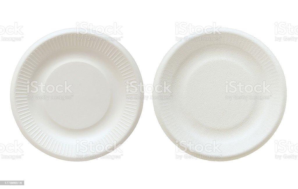Disposable paper plate stock photo