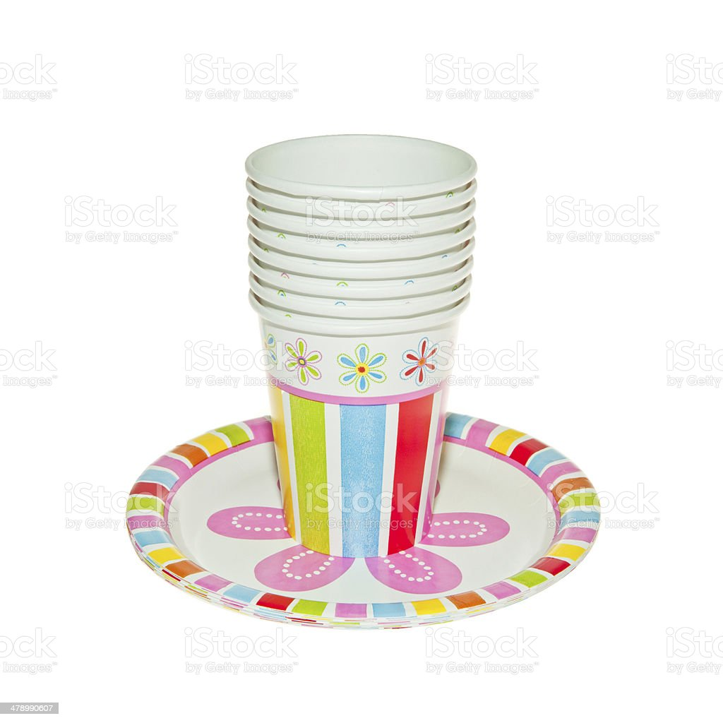 Disposable Party dishware royalty-free stock photo