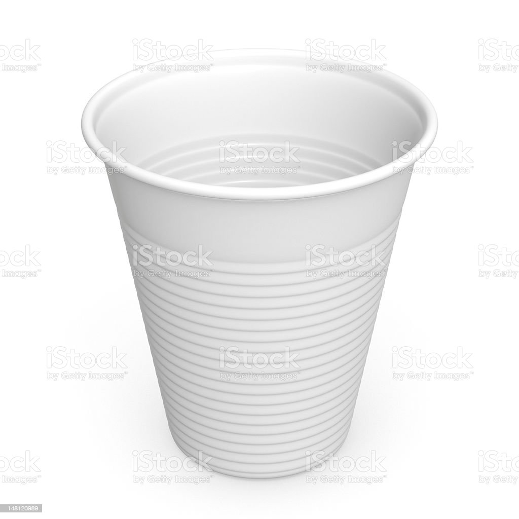 Disposable Plastic Cup royalty-free stock photo