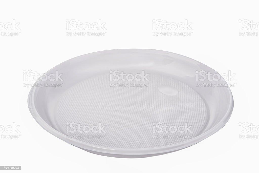 disposable plastic plate stock photo