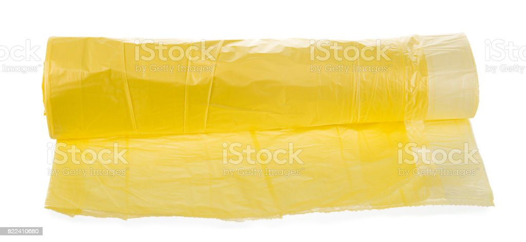 Disposable Trash Bag Isolated stock photo