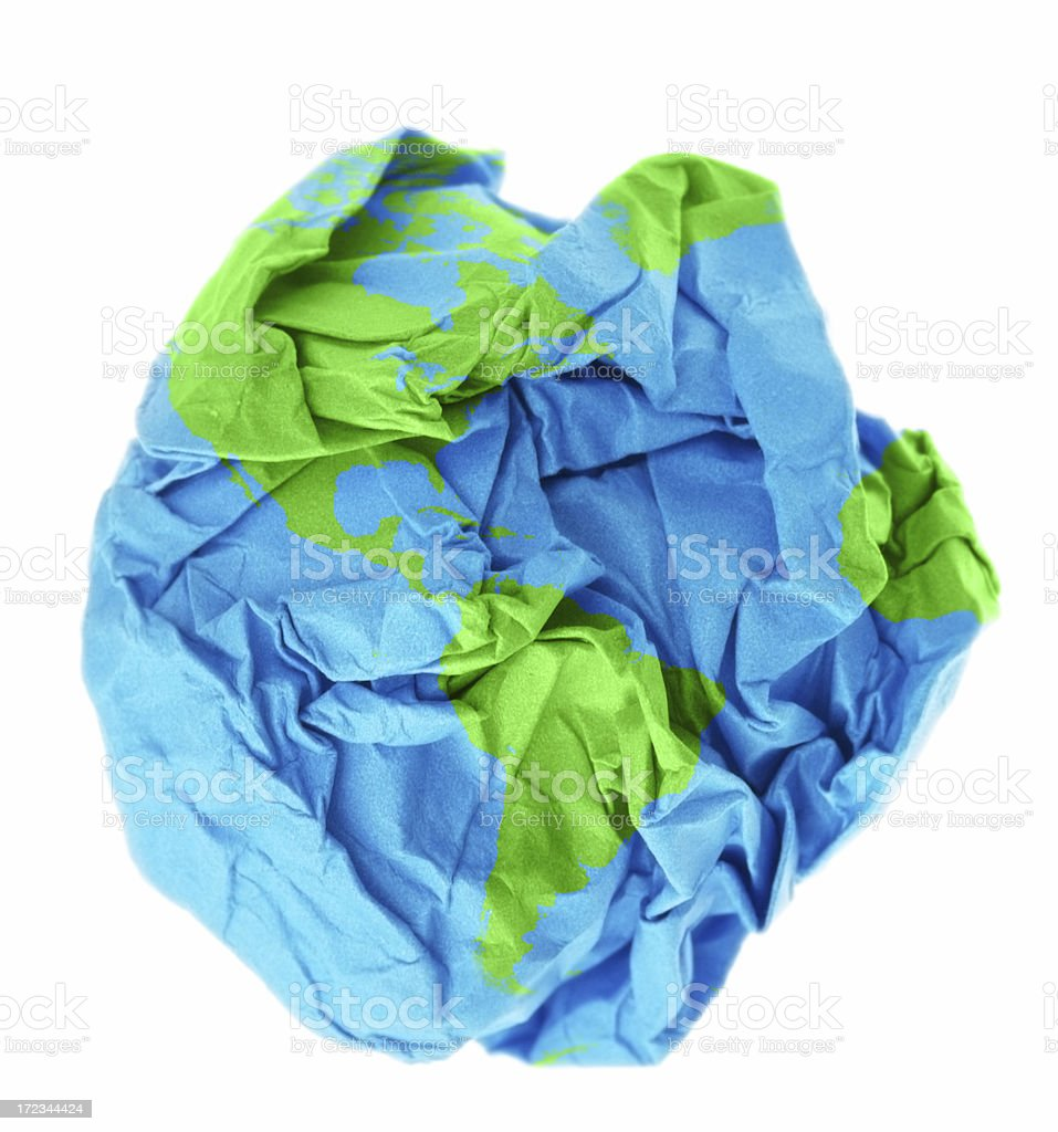 Disposable World royalty-free stock photo