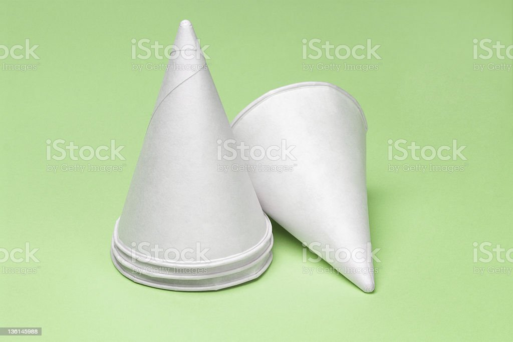 Disposaible paper cups royalty-free stock photo