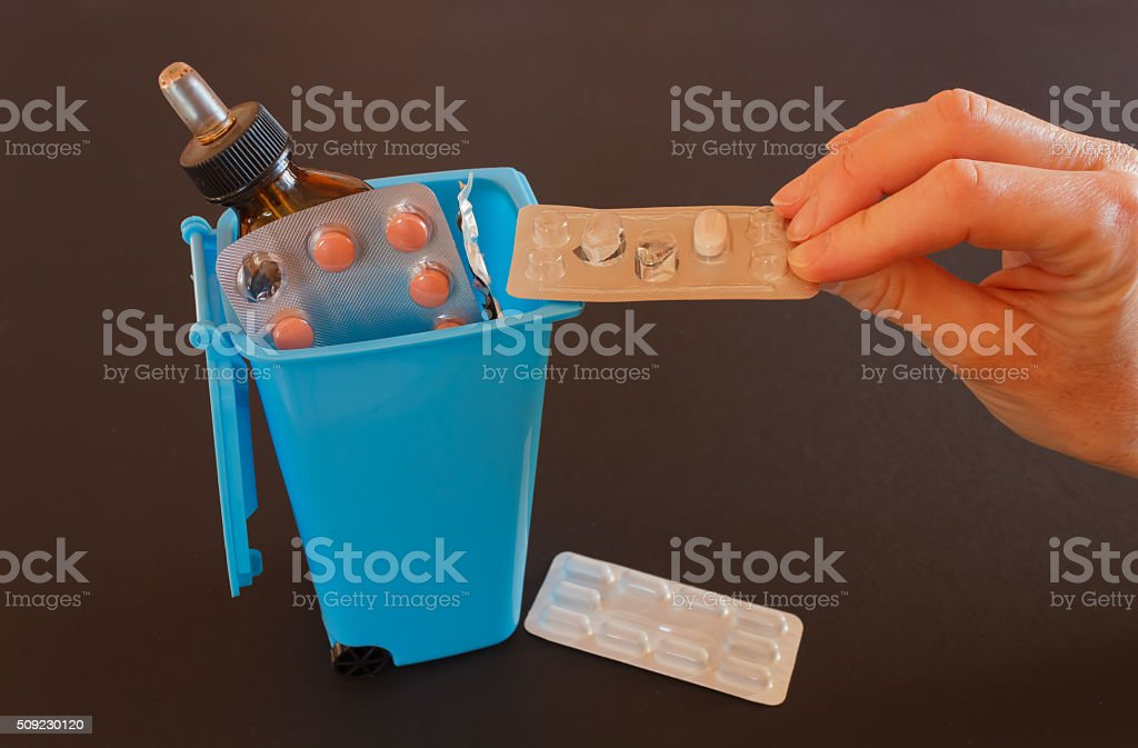 disposal of expired drugs stock photo