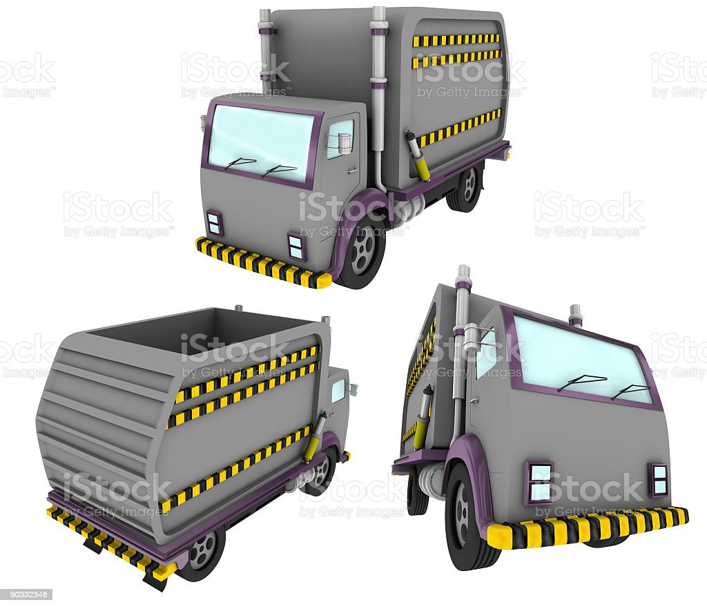 Disposal Truck (Isolated) royalty-free stock photo