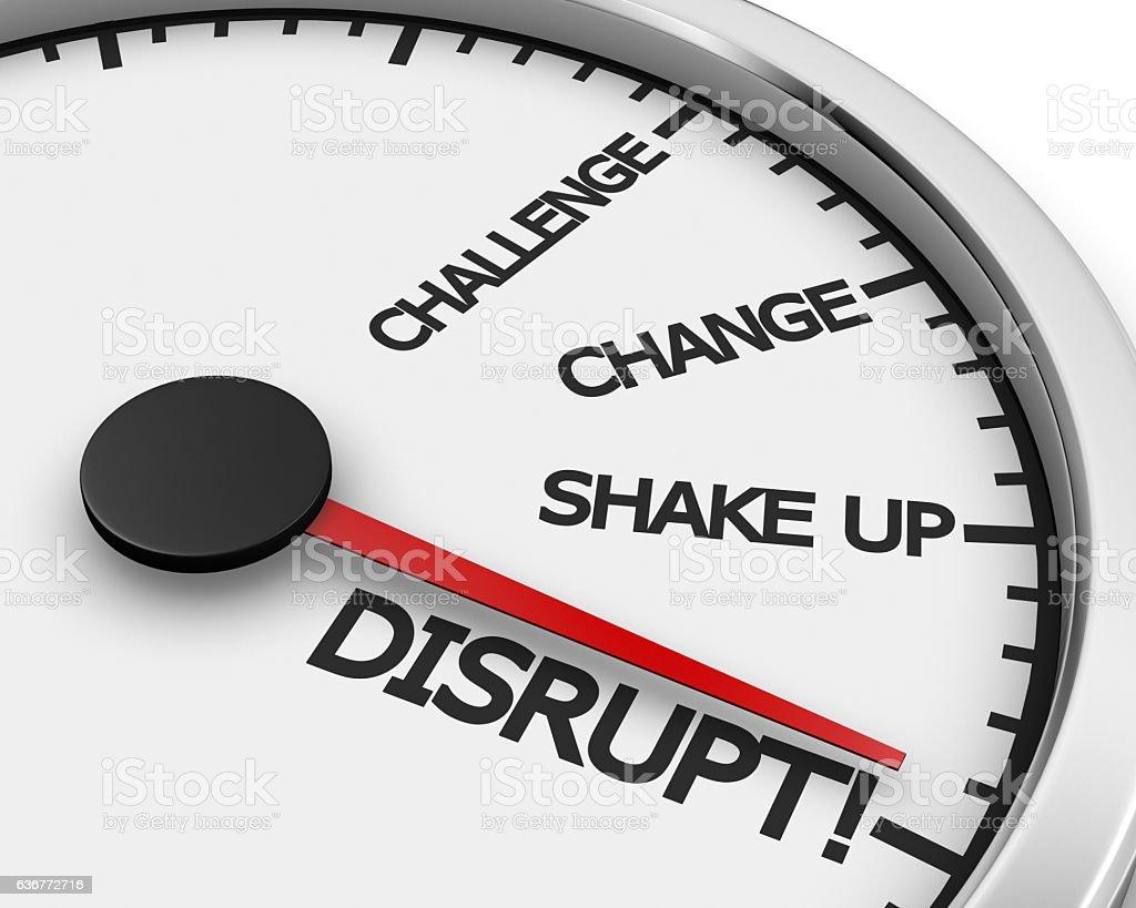 Disrupt stock photo