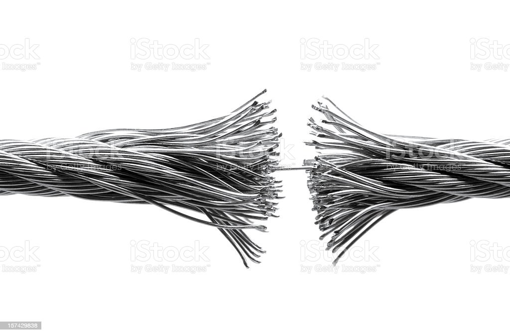 Disrupting wire rope isolated royalty-free stock photo