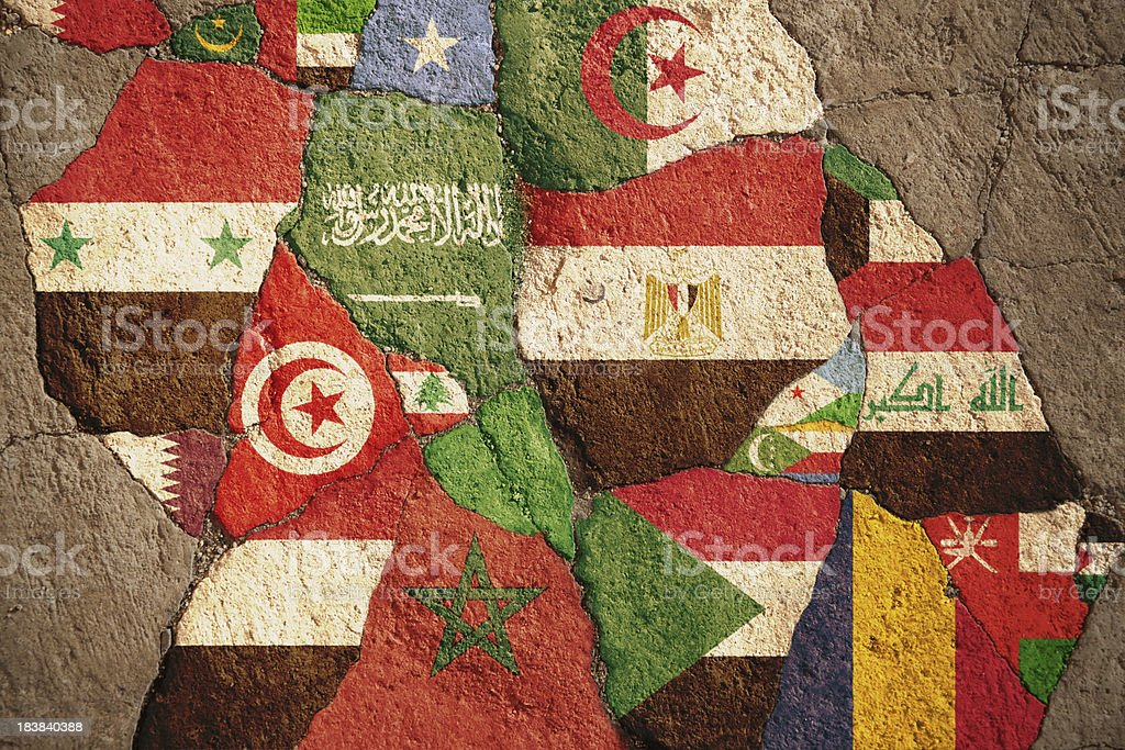 Disruption of Arab Nations stock photo