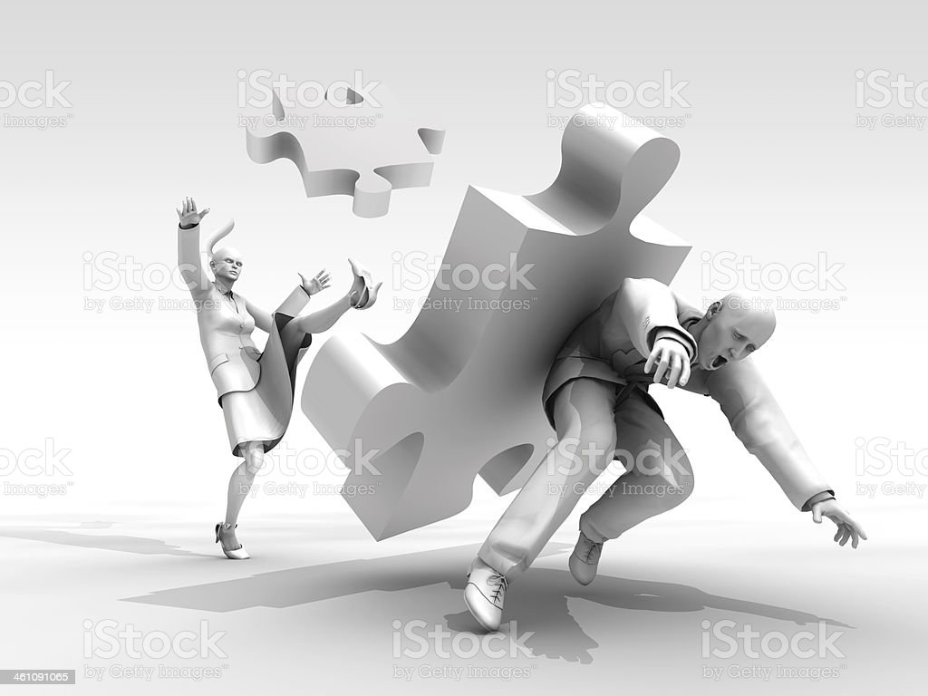 Disruption of teamwork royalty-free stock photo