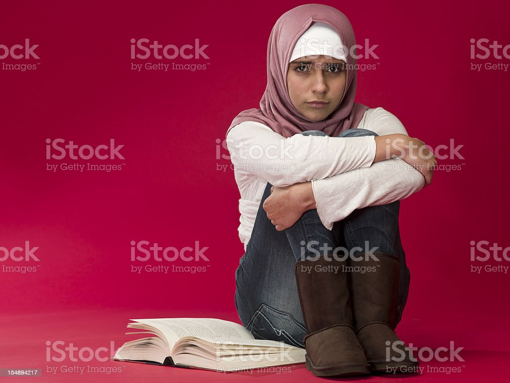 Dissapointed Muslim girl royalty-free stock photo