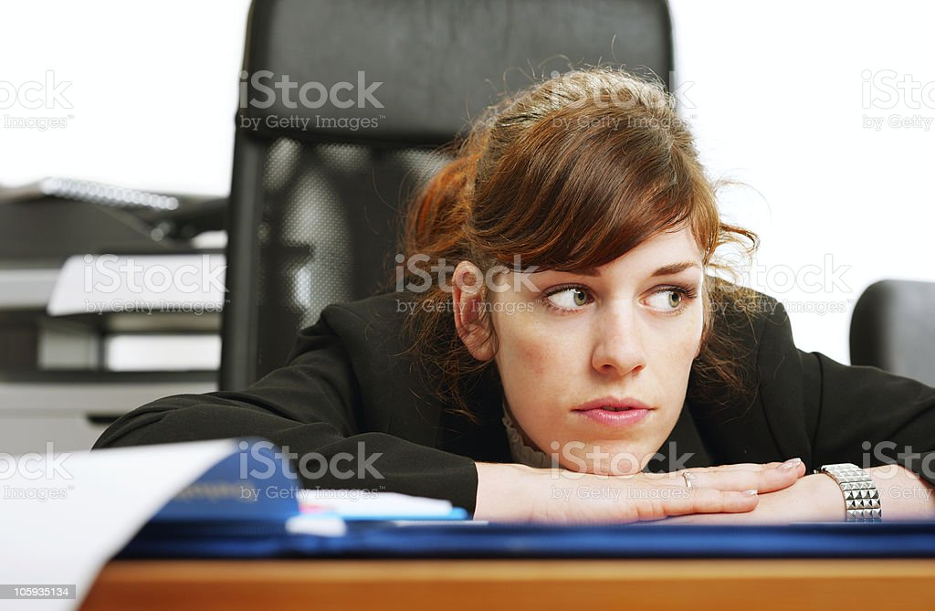 Dissatisfied business lady royalty-free stock photo