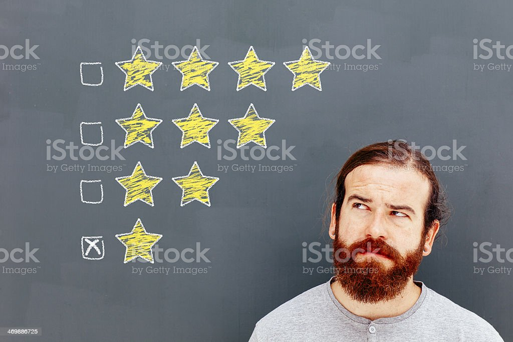 Dissatisfied customer stock photo