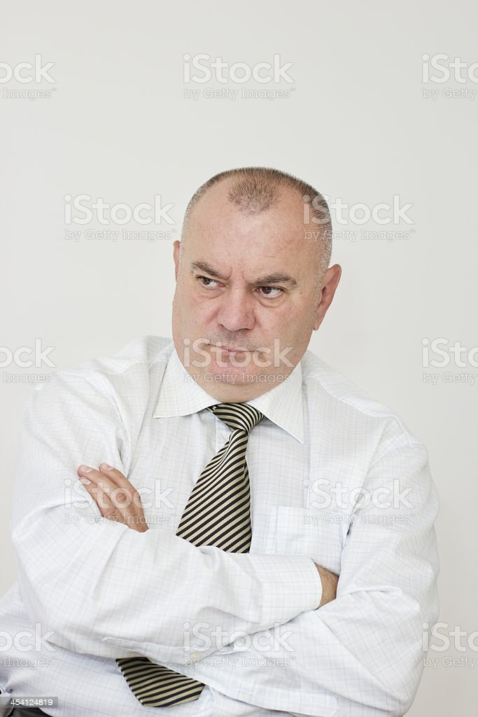 Dissatisfied office worker stock photo