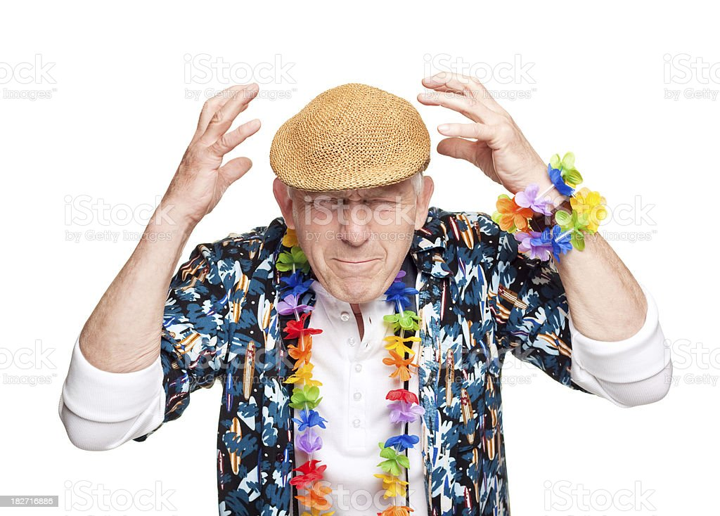 Dissatisfied tourist on vacation royalty-free stock photo
