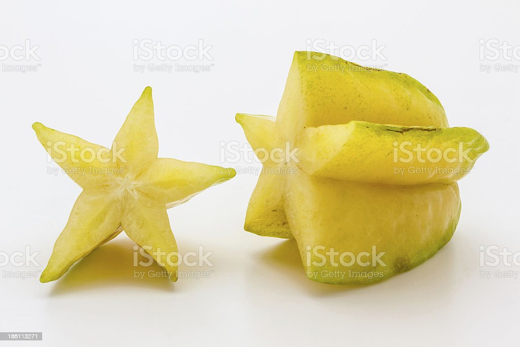 Dissect star fruit royalty-free stock photo