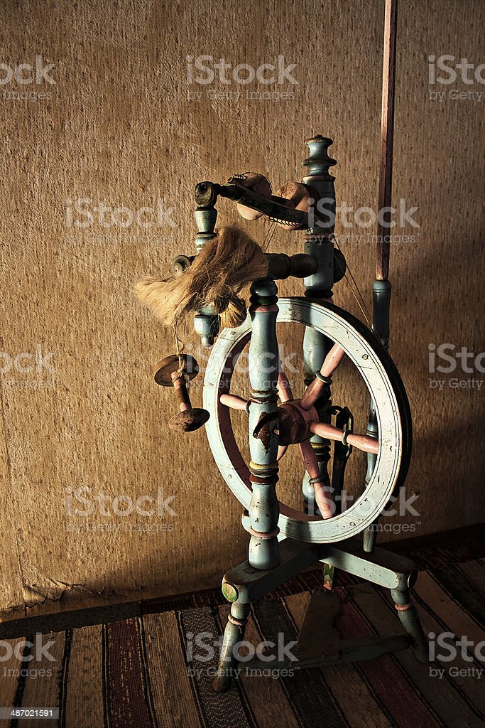 Distaff stock photo