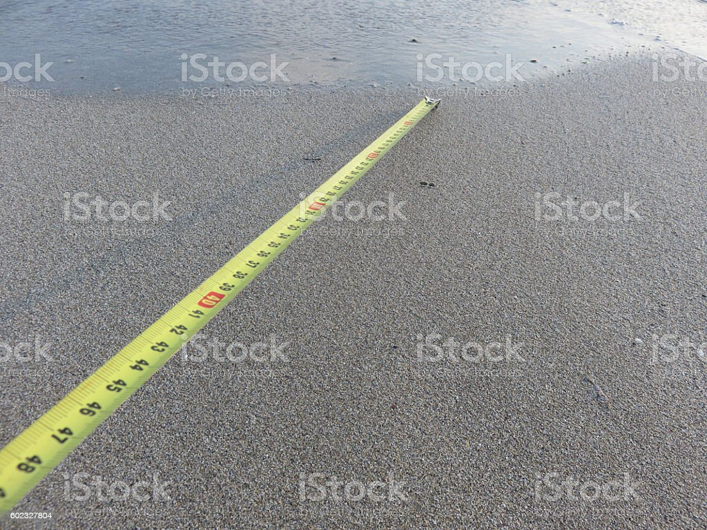 distance from the sea Concept stock photo