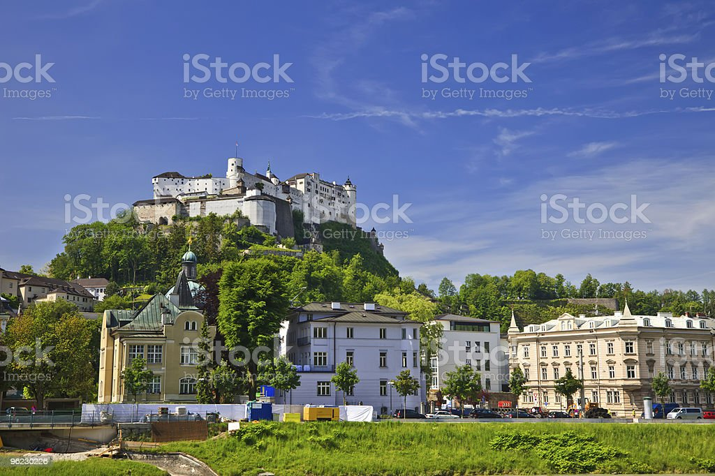 Distance image of Hohensalzburg Fortress royalty-free stock photo