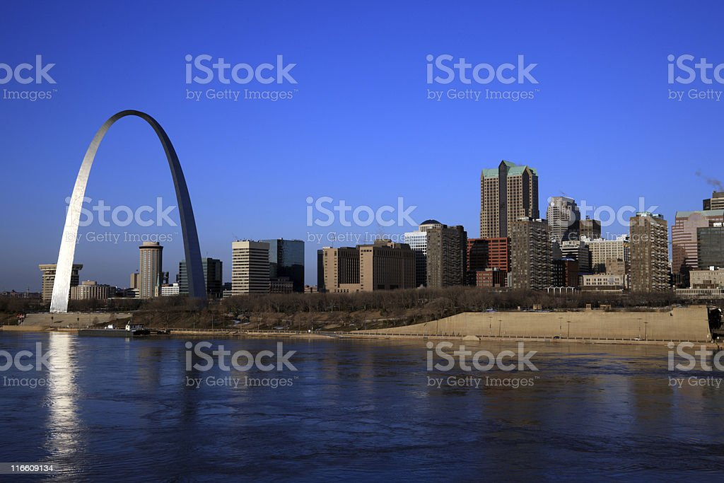 A distance photograph of St Louis, Missouri royalty-free stock photo