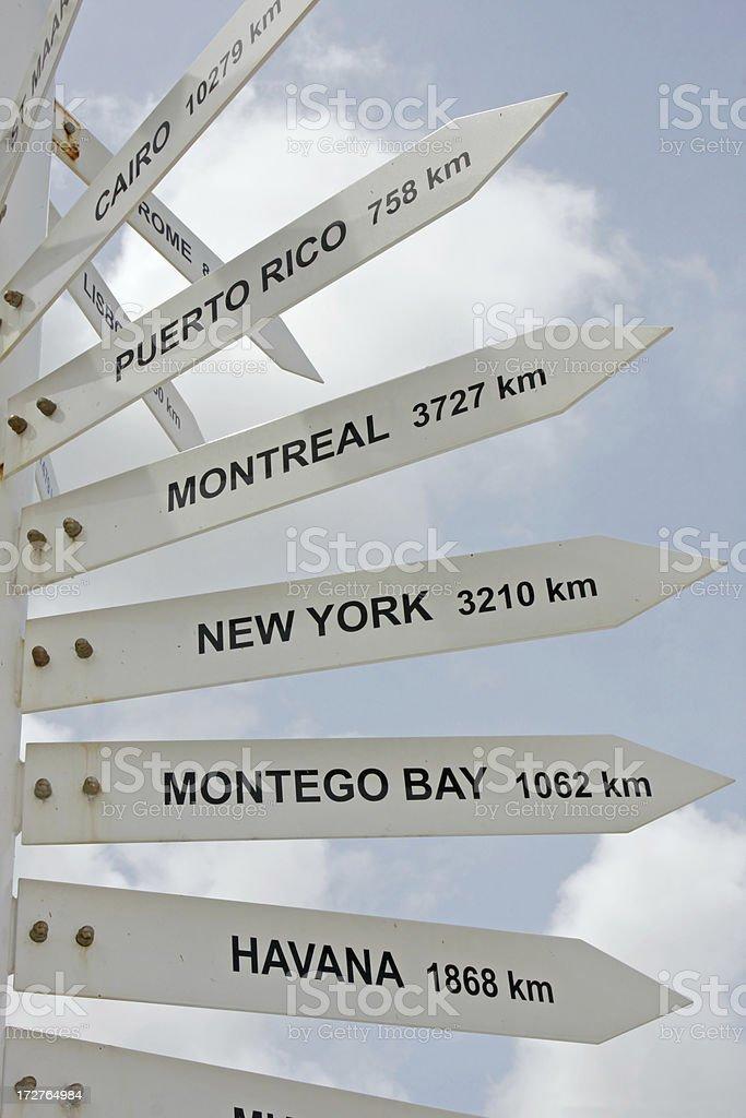 Distance pole # 2 royalty-free stock photo