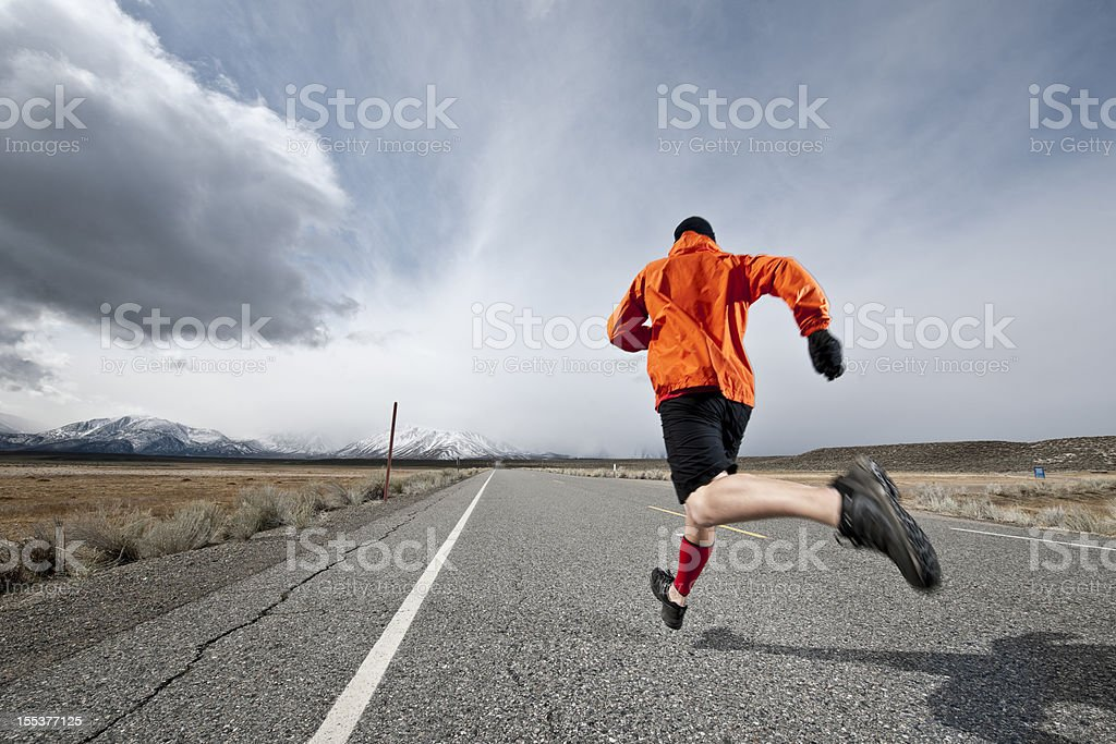 distance runner royalty-free stock photo