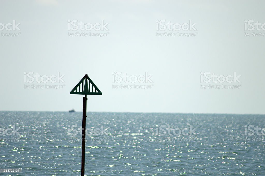 Distant Coastal Seaview stock photo