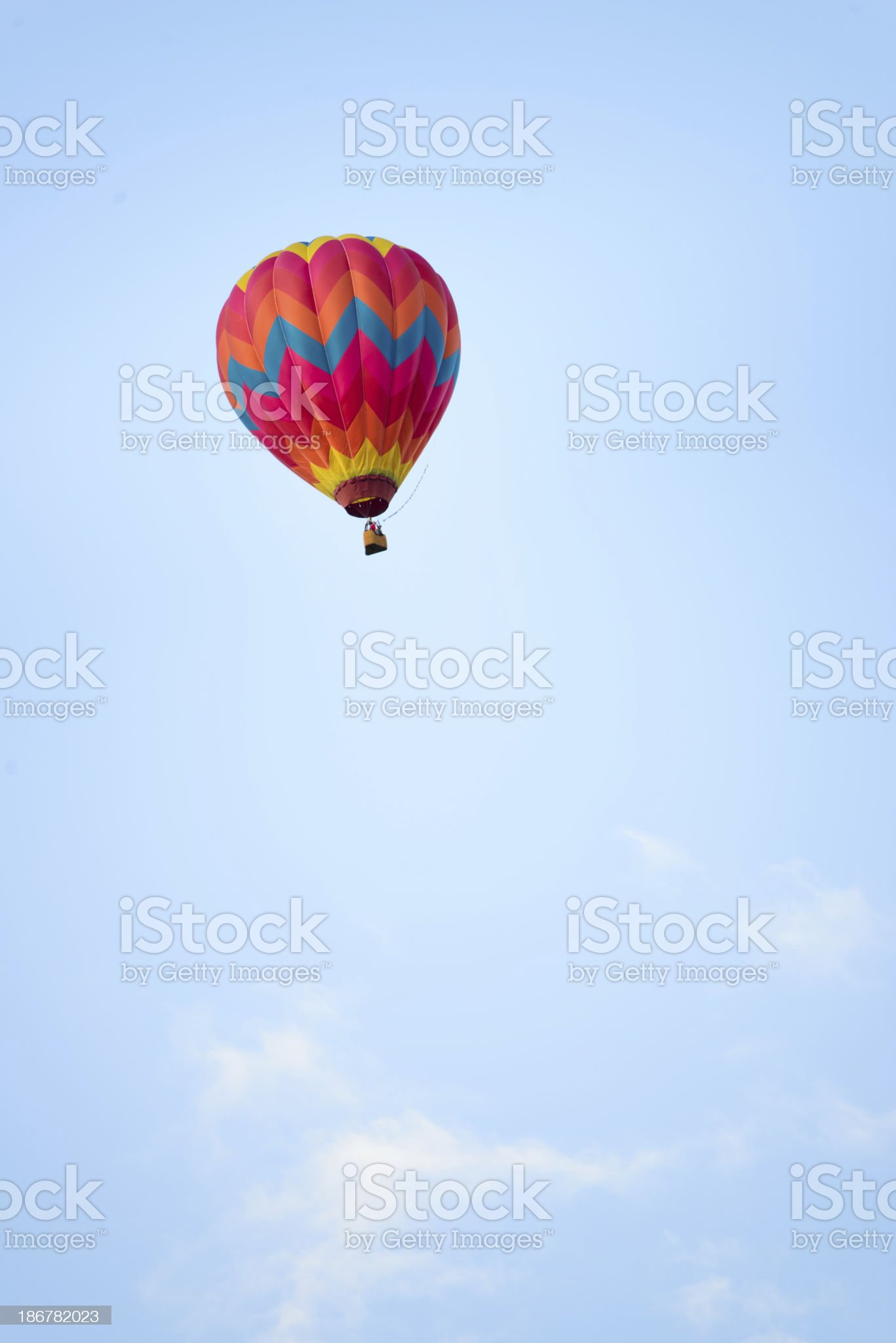 Distant Colorful Hot Air Balloon royalty-free stock photo