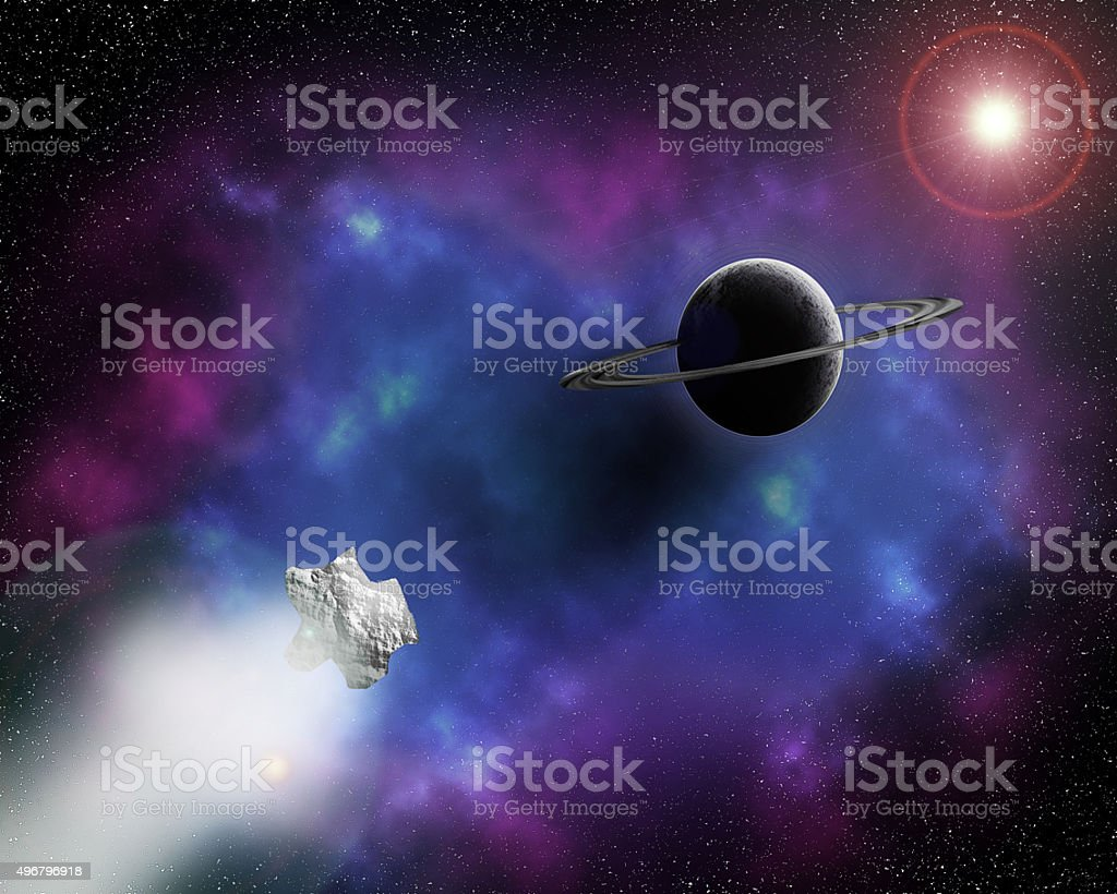 Distant galaxy stock photo