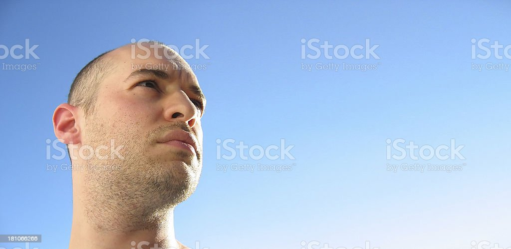 Distant Gaze royalty-free stock photo