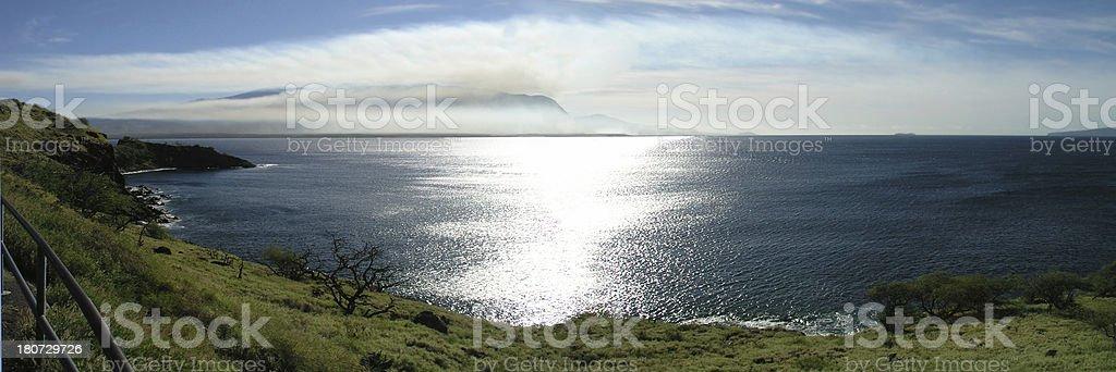 Distant Island Panorama stock photo