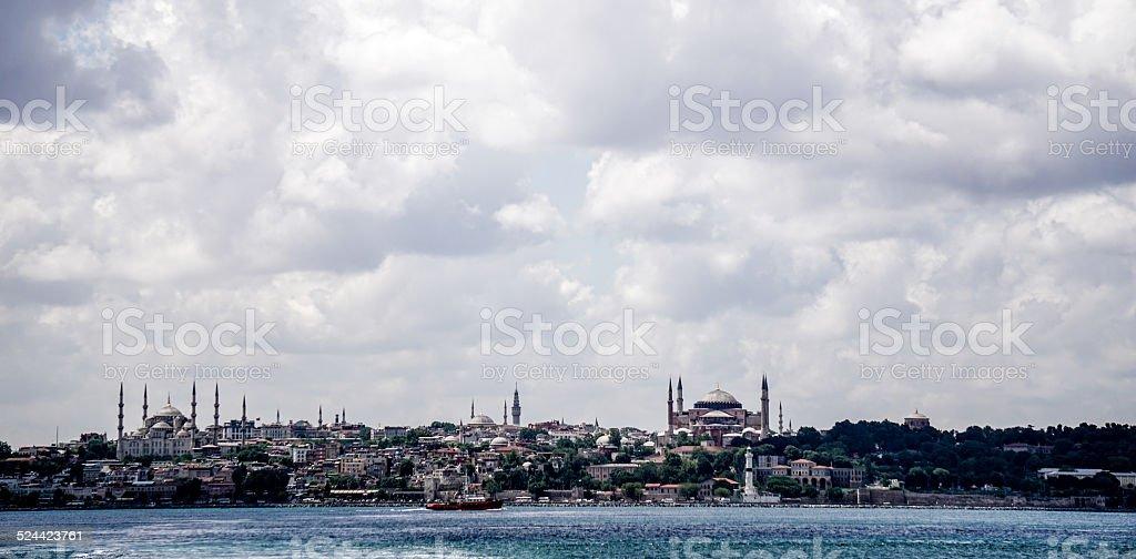 Distant Istanbul Skyline stock photo