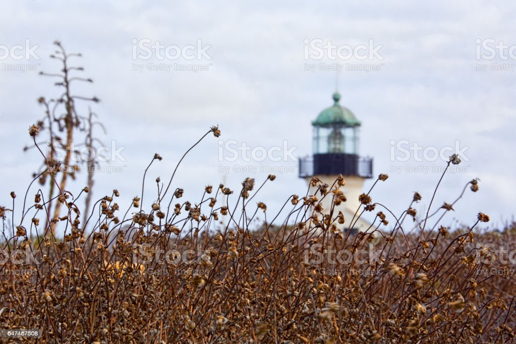 Distant Lighthouse stock photo