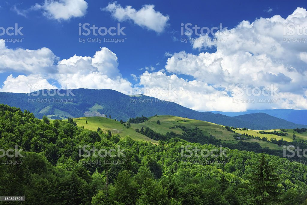 distant mountains royalty-free stock photo
