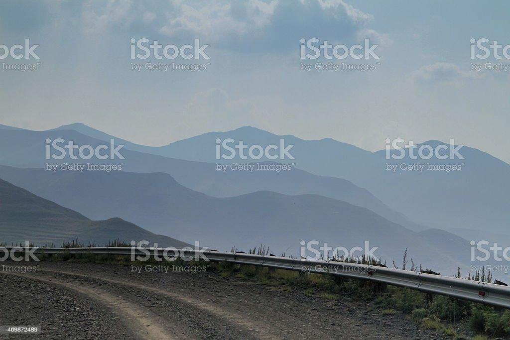 Distant mountains stock photo