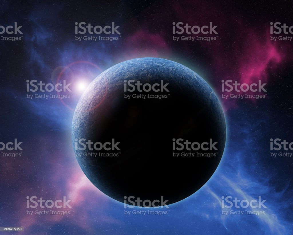 Distant planet. stock photo