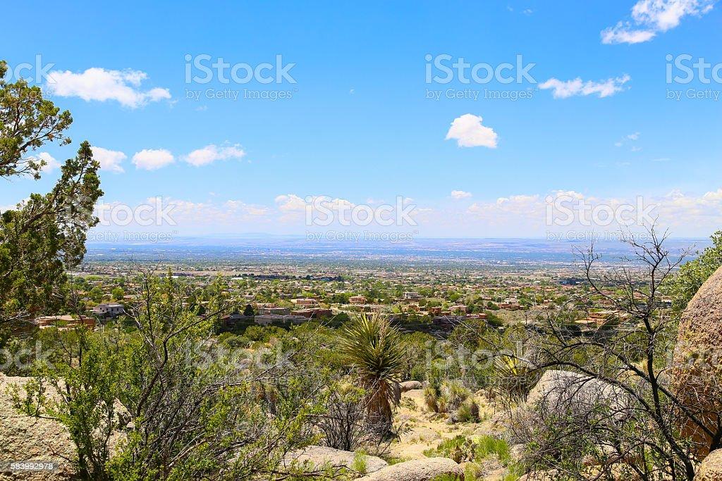 Distant View of Albuquerque stock photo