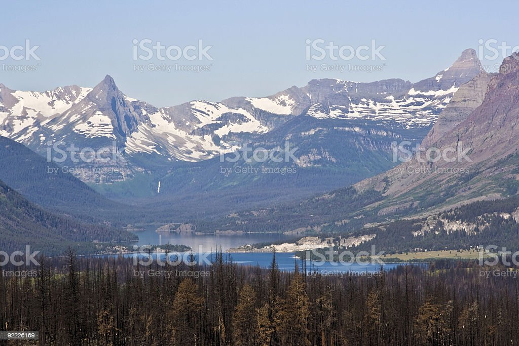 Distant waterfall royalty-free stock photo