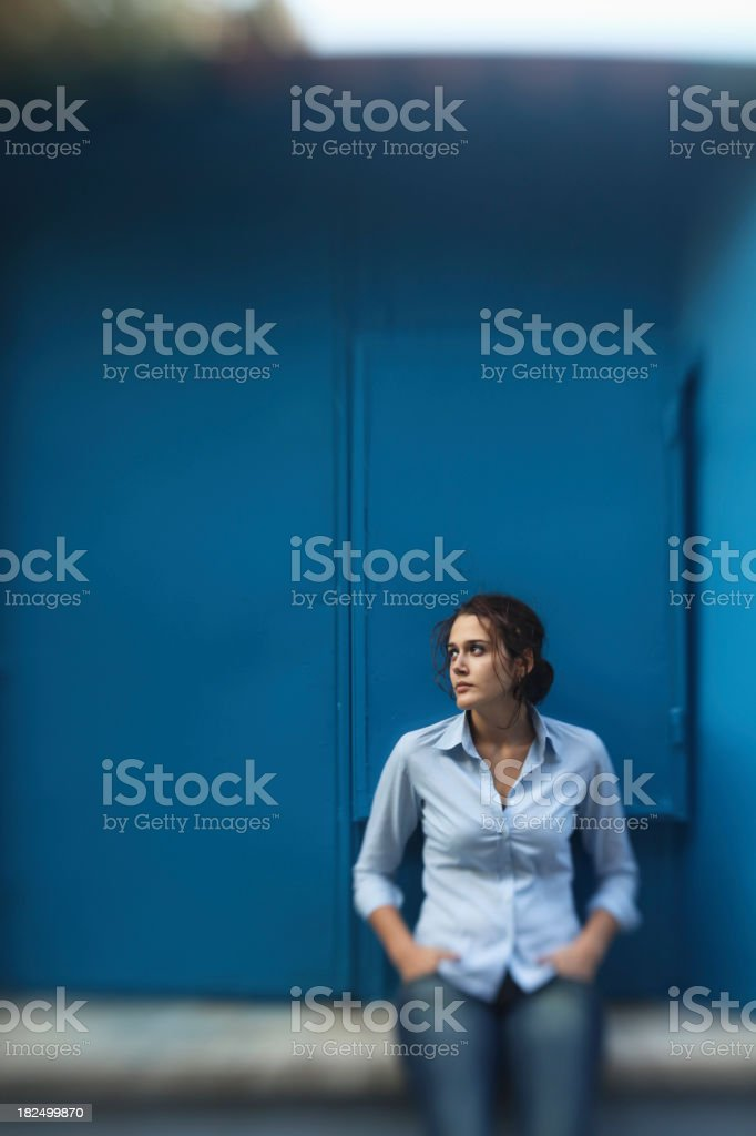 Distant Young Woman royalty-free stock photo