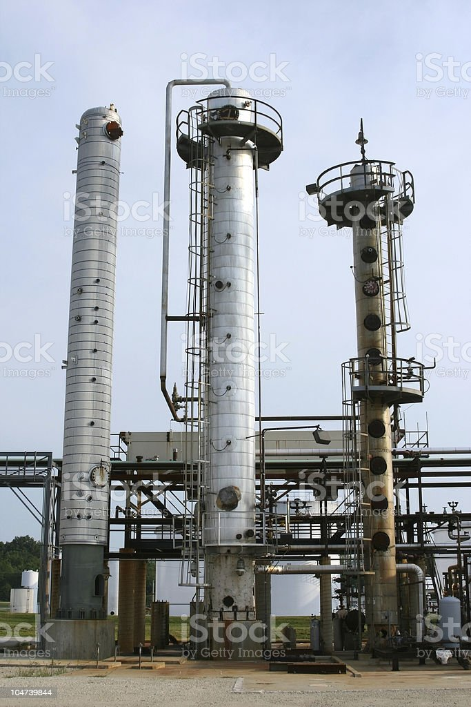 Distillation Towers royalty-free stock photo