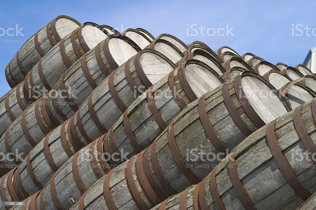 Distillery Barrels 2 royalty-free stock photo