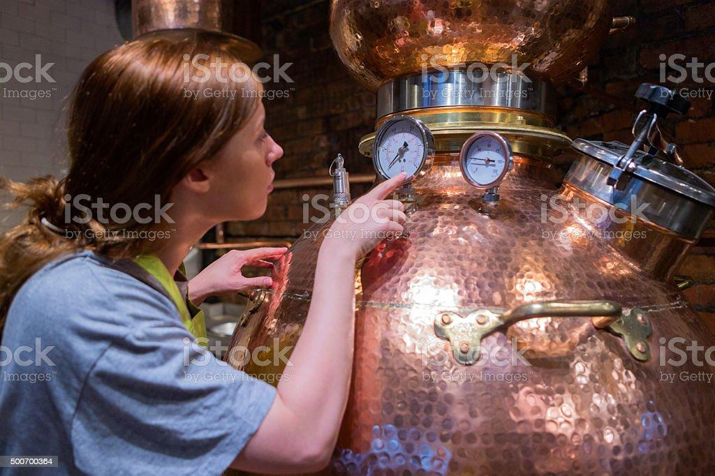 Distillery Boiler stock photo