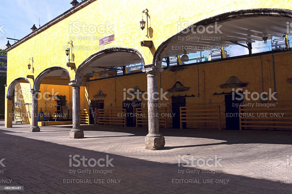 Distillery Ovens and Storage in Tequila stock photo