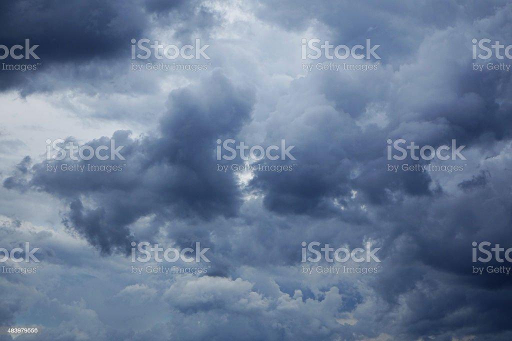 Distinct Low Lying clouds stock photo
