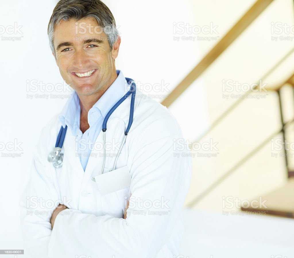Distinguished medical doctor royalty-free stock photo