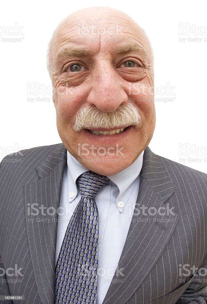Distorted Balding Head royalty-free stock photo
